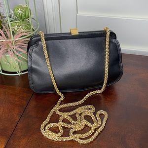 Leather Co. Liz Claiborne Black Leather Crossbody